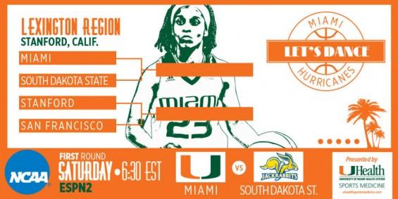 Miami plays South Dakota State in the NCAA Women's Tournament / Hurricanesports