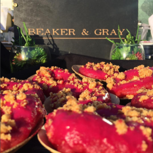 Beaker and Gray featured an array of donut flavors, including their beets donuts. via Instagram (@beakerandgray)
