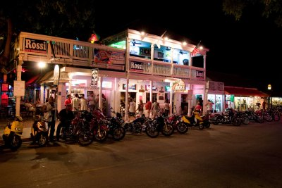 Duval Street, Key West's most famous road, is home to several renowned restaurants and bars. Sloppy Joe's is known for its Ernest Hemingway look-alike contest. Source: MBike.com.