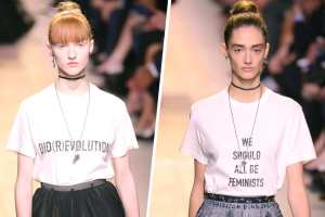 Dior's feminist T-shirts debuted this month in Paris