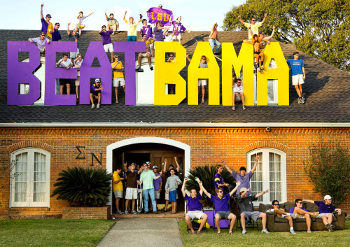 With frat houses nearby the on-campus football stadium, SEC schools can tailgate calmly on their front porches before games start. At UM, students have to drive to their stadium and tailgate all-together in the Cash Lots. Source: ESPN.com.