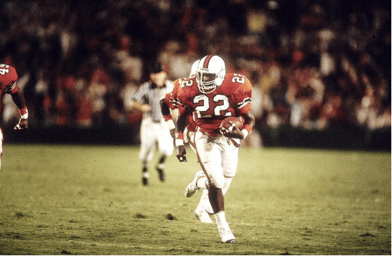 Miami's Randy Shannon in action against Florida State in 1988l