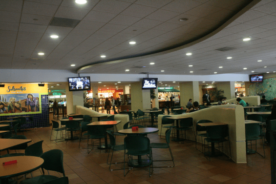 The old food court at the University of Miami (University of Miami Admissions)