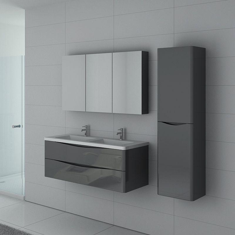meuble de salle de bain trevise 1200 gris taupe