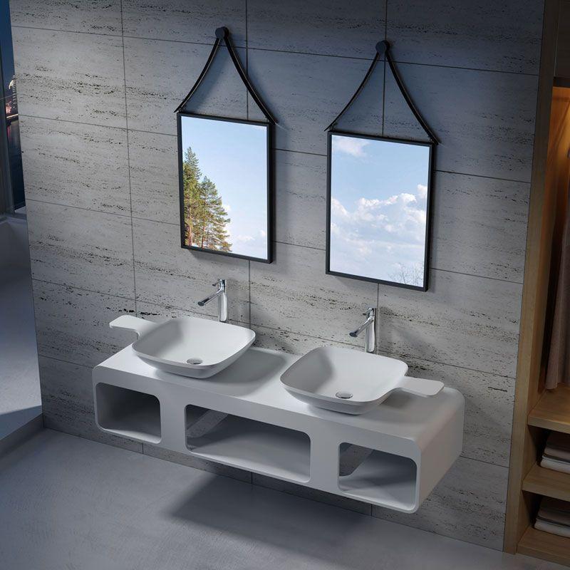 Ensemble Vasques Et Plan Double Vasque 160 Cm Double Plan Vasque Et Vasques Sdk53 Sdv13