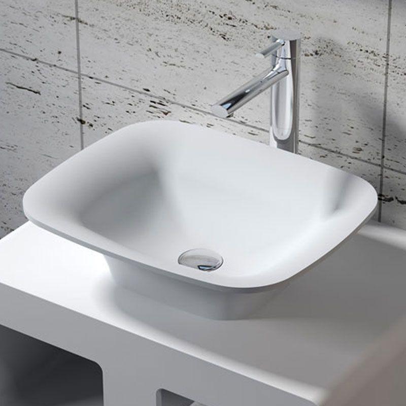 Vasque Rectangulaire A Poser En Solid Surface Vasque Rectangulaire Blanche A Poser Sdv33