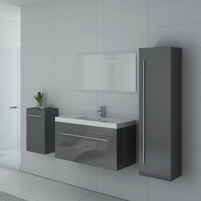 meuble de salle de bain sanremo gris taupe
