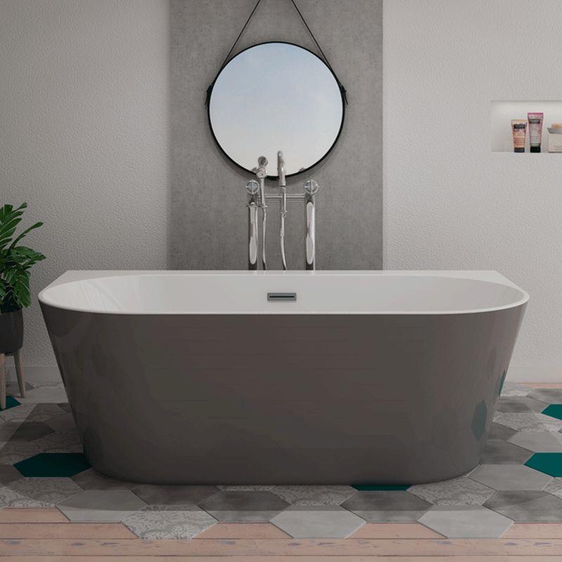 baignoire ilot lazzio grey