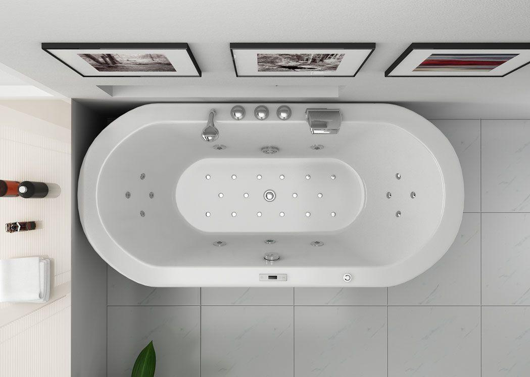 baignoire balneo ovale 28 jets pour