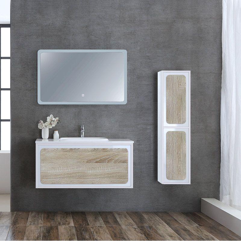 meuble de salle de bain rovigo 1000 scandinave et blanc