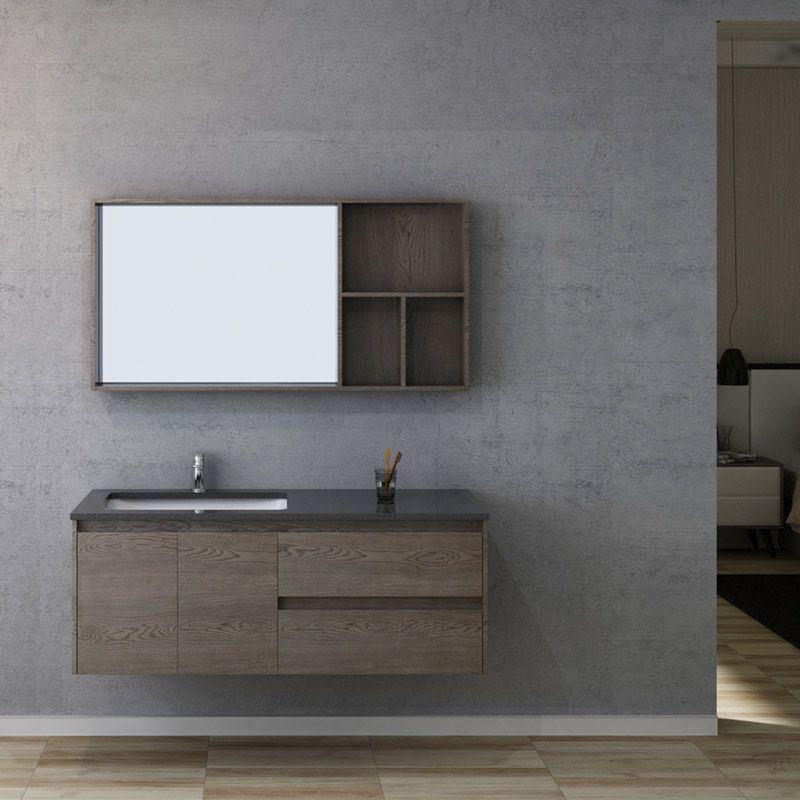 meuble salle de bain bergame 1300 chene gris