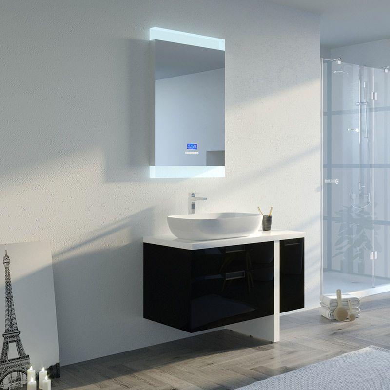 meuble de salle de bain scarlino 1000 noir