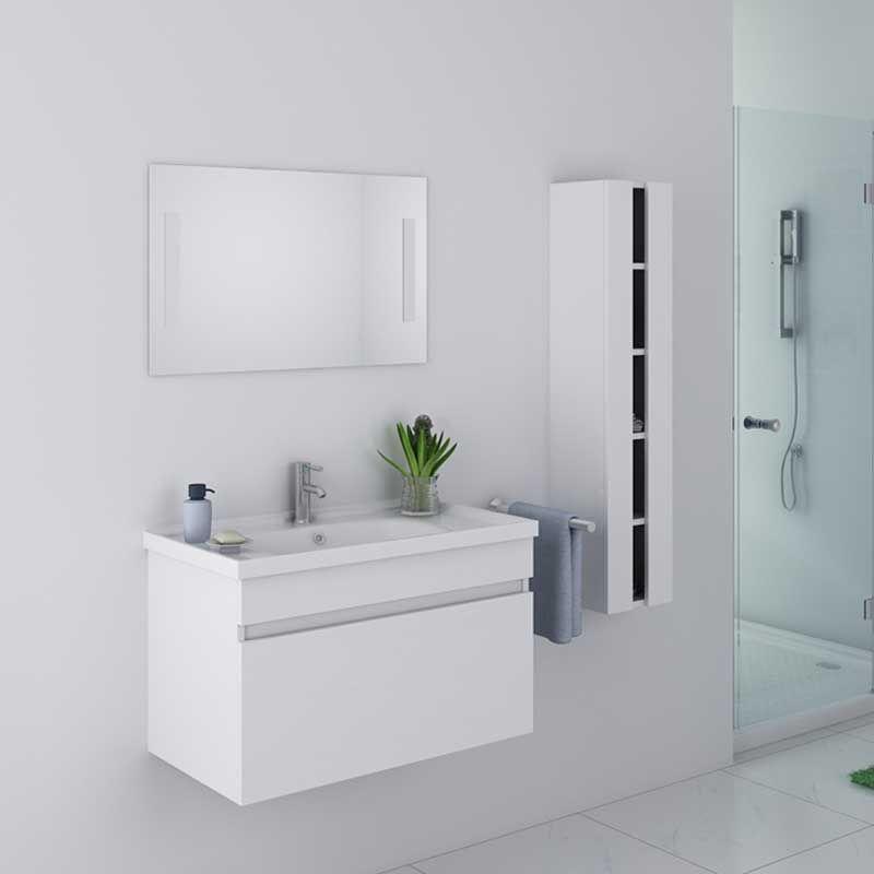 meuble de salle de bain dis800a blanc
