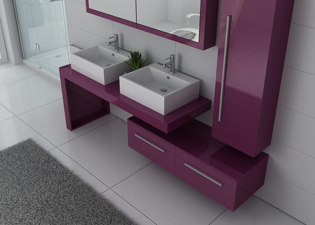 Meuble De Salle De Bain Design Double Vasque DIS9350AU