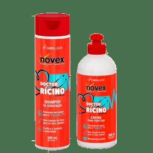 Novex Kit Doctor Ricino Shampoo 300ml y Crema De Peinar 300ml