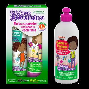 Novex Meus Cachinhos Shampoo, Acondicionador y Crema de Peinar