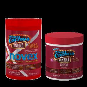 Novex Cachos De Cinema Kit Tratamiento 1K y Crema De Peinar 1K