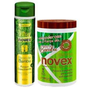 Novex Kit Shampoo Y Tratamiento Brote De Bambu 1k