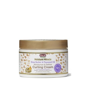 African Pride Moisture Miracle Shea Butter & Flasxseed Oil Curling Cream 340g