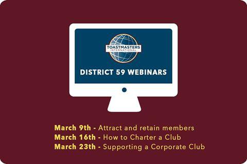 Webinars on club growth