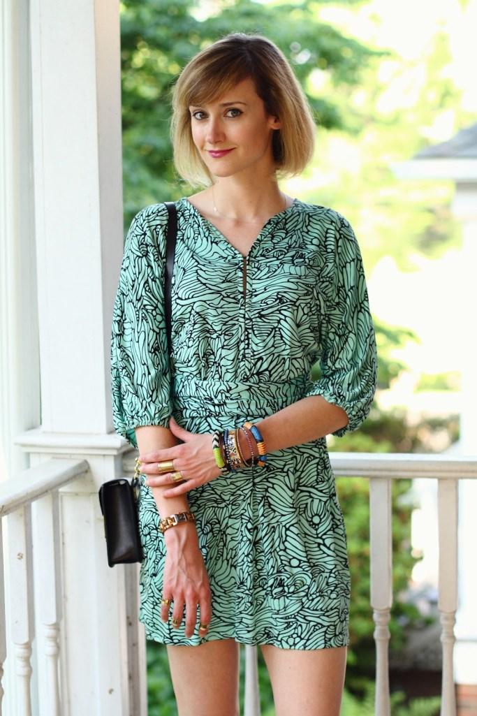 Mara Hoffman dress + tribal bangles