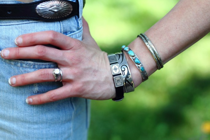 vintage silver and turquoise bracelets