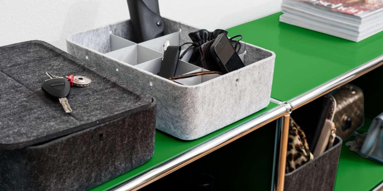 Organizar los estantes con Inos box de USM