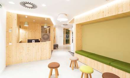 Espacio Familias del Hospital San Juan de Dios de Barcelona, proyecto de Ovicuo Design