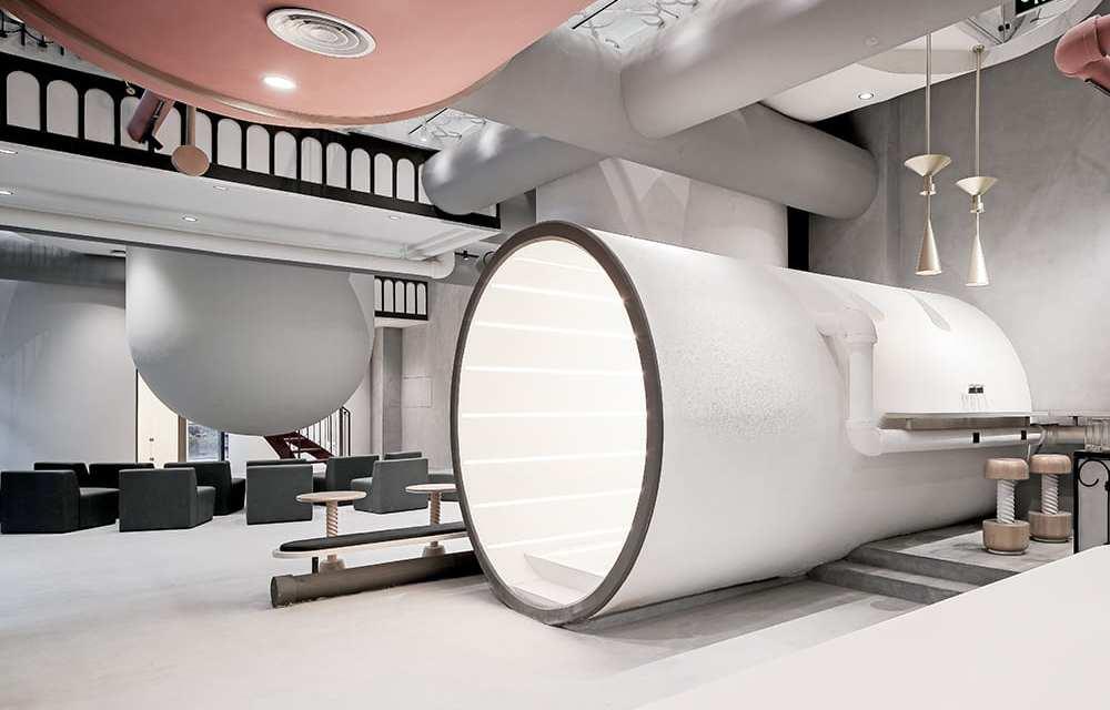Ideas Lab Shangai de X-Living. Nostalgia de la máquina de vapor