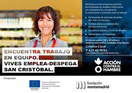 Cartel Montemadrid Vives Emplea-Despega San Cristobal
