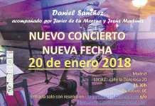 Daniel Sánchez en concierto el 20 de Enero