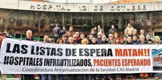 Jornada Contra las Listas de Espera frente al Hospital 12 Octubre