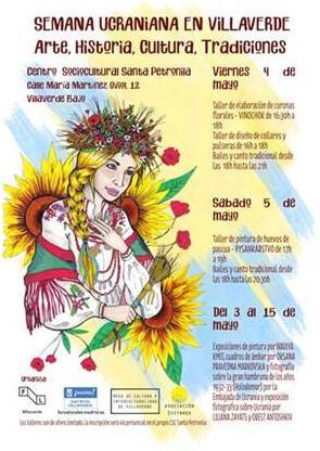Cartel Semana Ucraniana en Villaverde