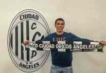 Sergio Bravo Líndez, delantero centro y uno de los capitanes del C.D. Ciudad de los Ángeles