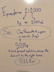 Epinephrine dilution