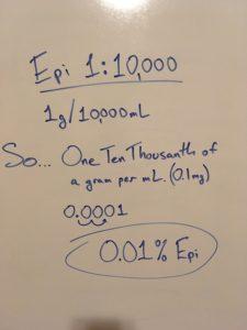 Epinephrine 1:10000 dilution