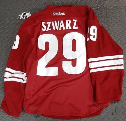Jordan Szwarz Game used jersey