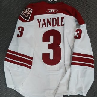 nhl game worn yandle