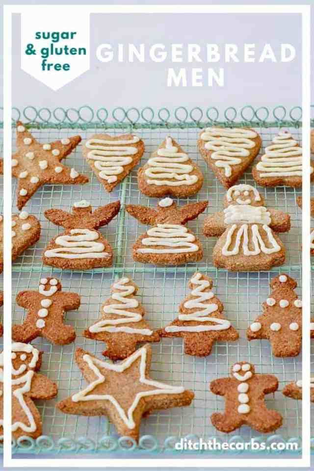 Amazing sugar free gingerbread men that are also gluten free, low carb and easy to make. | ditchthecarbs.com