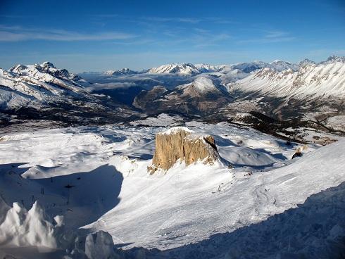 Schitterend uitzicht vanaf het hoogste punt van Superdevoluy!