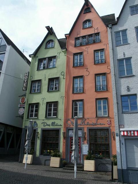 Prachtige huizen in de Keulse Altstadt