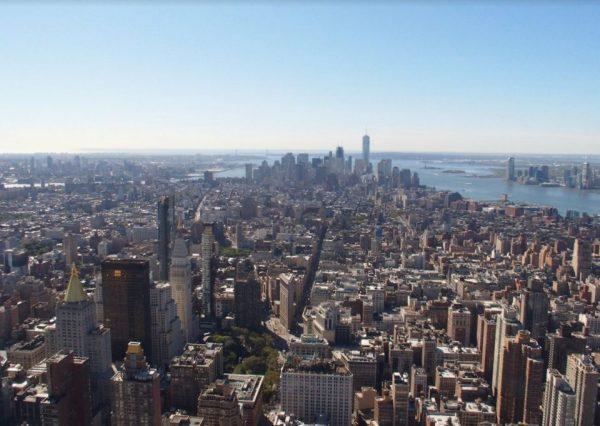 Uitzicht vanaf het Empire State Building.
