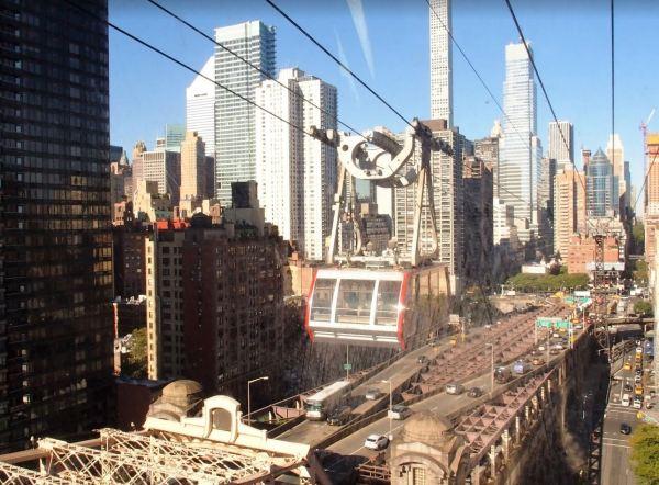 Met de gondel reis je op hele bijzondere wijze naar Manhattan!