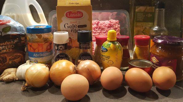 Bobotie ingrediënten