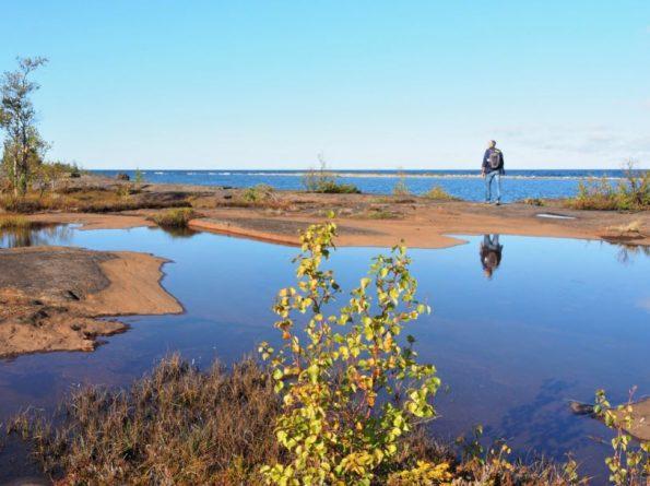 Westkust van Zweeds Lapland