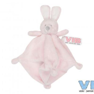 knuffeldoekje konijn roze