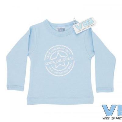 t-shirt blauw 3+6M 100% original