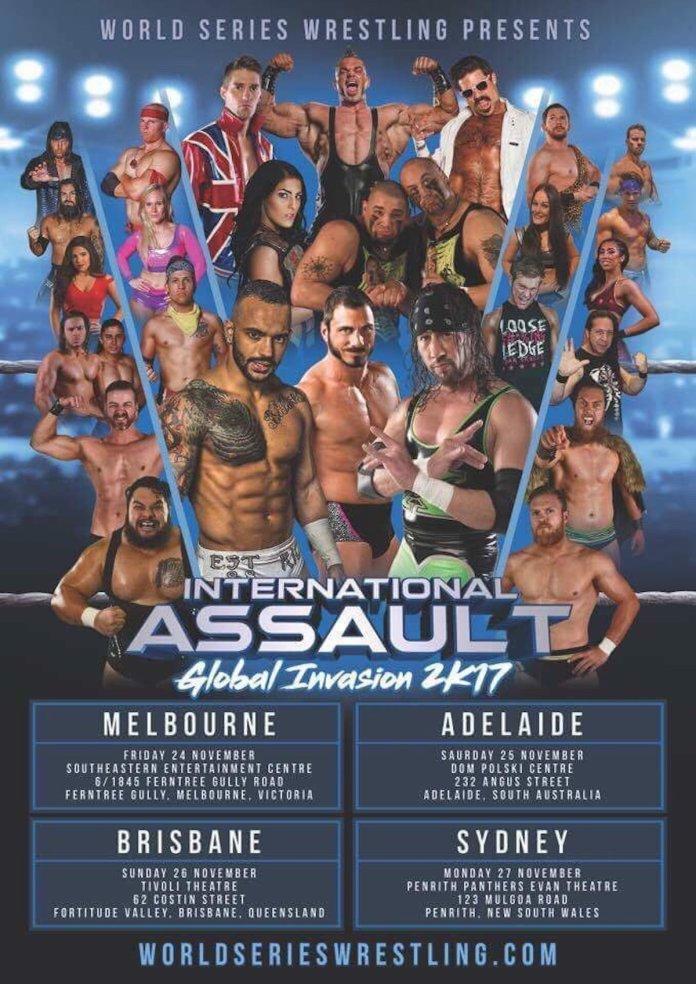 International Assault Tour 2K17 Show Poster