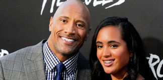 The Rock and his daughter Simone Johnson