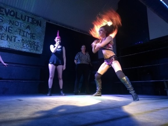 Kay Lee Ray makes her entrance